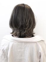 のびてきても気にならない外国人風カラー(髪型ボブ)