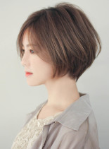 大人かわいい小顔ショートヘア(髪型ショートヘア)