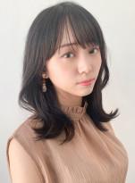 大人かわいい 韓国風外はねヘア