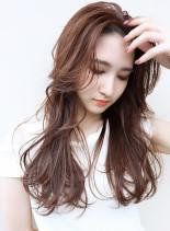 大人かわいい 無造作レイヤーヘア(髪型ロング)