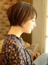 ナチュラルでふんわり可愛いショートヘア☆(髪型ショートヘア)