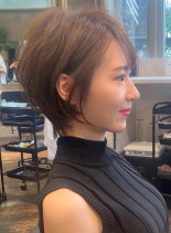 ☆王道スタイル☆大人小顔ショート(髪型ショートヘア)