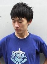 黒髪ベリーショート(髪型メンズ)