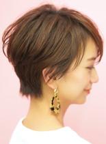 手入れ簡単☆耳掛けショートカット(髪型ショートヘア)