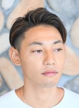 大人ハイライト◎キレイめさっぱり七三分け(髪型メンズ)