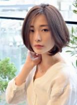 30代40代小顔ひし形ボブ(髪型ボブ)
