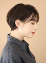 30代40代 大人かわいいくびれショート(髪型ショートヘア)