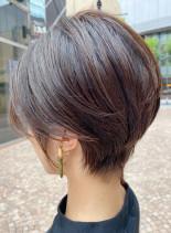 ふんわり透け感◎大人の小顔ショートヘア(髪型ショートヘア)