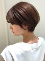 大人綺麗な美シルエットショートヘア(髪型ショートヘア)