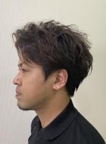 ツーブロック ウェーブスタイル(髪型メンズ)