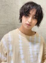 ナチュラルウルフくせ毛ニュアンスパーマ(髪型メンズ)