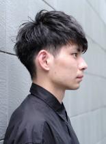 大人の2ブロックスタイル(髪型メンズ)