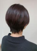 ★30・40代シンプル大人ショート★(髪型ショートヘア)