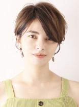 30代女性◎シンプルなナチュラルショート(髪型ショートヘア)