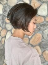 首元すっきり ☆ グラデーションボブ(髪型ショートヘア)