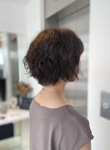 カットが得意なサロンのパーマボブ(髪型ショートヘア)