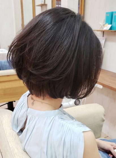 ギリギリ結べる大人ショートボブ(髪型ボブ)