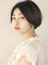 30代スッキリ丸みショートボブ(髪型ショートヘア)