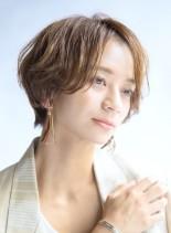 大人かわいいパーマショート 30代(髪型ショートヘア)