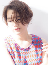 【30代40代】ハイライトショート(髪型ショートヘア)