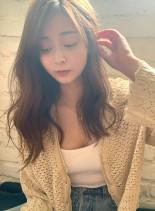 柔らかい雰囲気に☆シアーベージュとデジパ(髪型ロング)