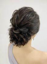 大人かわいい下めルーズアップスタイル(髪型ロング)