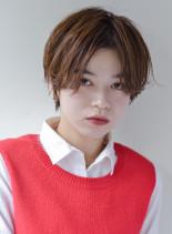 大人可愛い◇センターパートショートボブ(髪型ショートヘア)