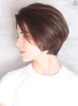30代40代エアリーひし形ショートボブ☆(髪型ショートヘア)