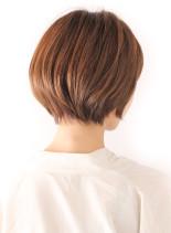 艶感ショートボブ(髪型ショートヘア)