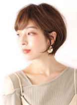 耳かけひし形ショートボブ(髪型ショートヘア)