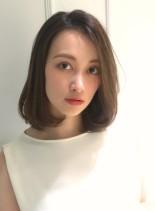 ゆるふわワンカールの大人ボブミディ☆(髪型ボブ)