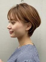 耳掛け☆ふんわりショートヘア(髪型ショートヘア)