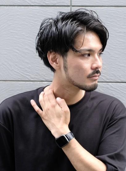 大人の2ブロック7:3スタイル(髪型メンズ)