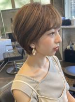 ナチュラル丸みショート(髪型ショートヘア)