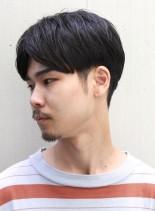 ナチュラルセンターパート(髪型メンズ)