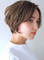 ふんわり丸み小顔ショートヘア(髪型ショートヘア)