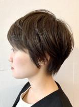 大人の柔らかショートカット(髪型ショートヘア)