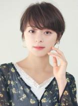 30代40代 大人かわいい小顔ショート(髪型ショートヘア)