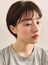 シースルーバング☆耳掛けマッシュショート(髪型ショートヘア)