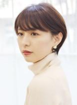 柔らか見せ☆フェミニン丸みショート(髪型ショートヘア)