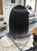 裾カラー(髪型ミディアム)