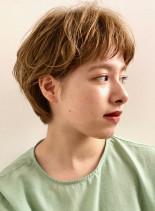 ゆるウェーブ◎マッシュパーマ(髪型ショートヘア)