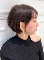 美シルエットの小顔ショートボブ(髪型ショートヘア)