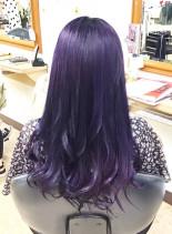 ダークバイオレットカラー(髪型ロング)