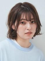 エアリーパーマボブ(髪型ボブ)
