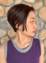 耳に掛けられる ☆ ショートボブ(髪型ショートヘア)