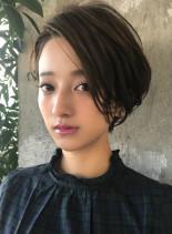 30代・40代 大人ひし形ショートボブ(髪型ショートヘア)