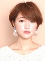 分け目のない☆大人のマッシュショートヘア(髪型ショートヘア)