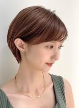 耳に掛けても可愛い☆小顔ショートヘア(髪型ショートヘア)