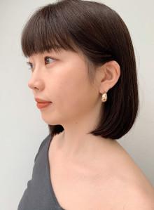 大人かわいい暗髪透明感カラー×艶感ボブ(ビューティーナビ)